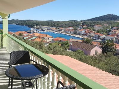 Photo for One bedroom apartment with balcony and sea view Sali (Dugi otok)