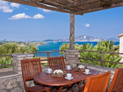 Photo for Kymaros Luxury Villa Oniro, 4 bedrooms, private pool, sea view