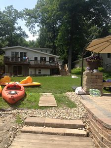 Photo for Perfect Lake Waterfront Getaway For Laporte Pine Lake 4 bedroom Retreat own pier