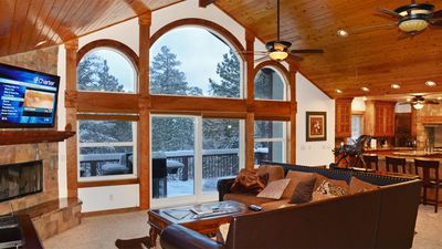 Photo for Spacious luxury cabin. Superb Kitchen, Pool table, close to skiing/snowboarding