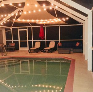 Using the dimmer switch for the pool lights can set a completely different mood.