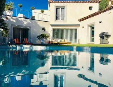 Photo for Beautiful contemporary villa, heated pool, jacuzzi