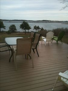 Photo for Charming antique waterfront home overlooking wellfleet harbor