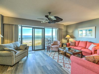 Photo for Oceanfront three bedroom with high chair and pack and play