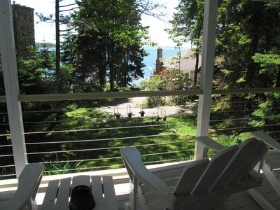Photo for Classic Cottage with Ocean View on beautiful Spruce Pt - access to Pools & more!