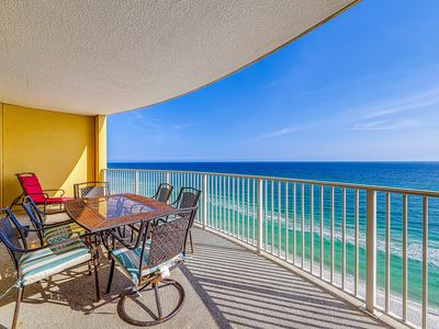 Photo for Wake up to beach views, community pool, hot tub, and fitness center!