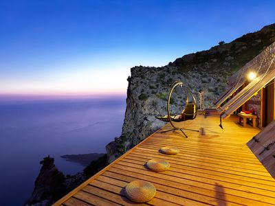 Photo for A very special  house on the edge of a cliff with breathtaking view of sea