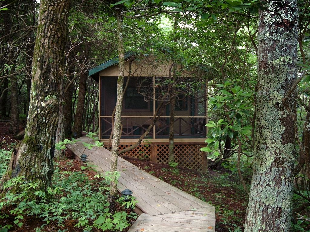 Secluded Cabin Large Deck Porch 110 112 Night Private