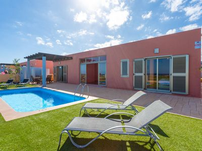 Photo for Villa Oceano: Large Heated Private Pool, Sea Views, A/C, WiFi