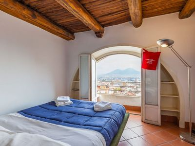Photo for Spacious Cozy Vittorio Emanuele Views apartment in Vomero with WiFi & air conditioning.