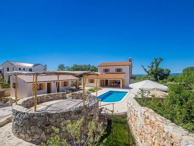 Photo for Wonderful and luxury holiday home in Kras, Island Krk, Croatia  with private pool for 8 persons