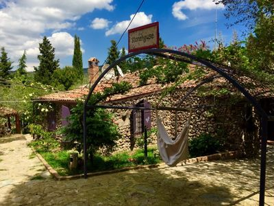 Photo for Sirince Rental Suite With Garden View. The property offers an historical Turkish bath in its garden, an outdoor pool and authentic rooms.