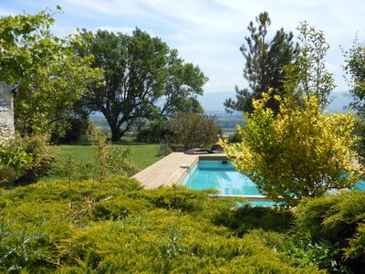 Photo for Mas du Pas - Large 17th century Provencal farmhouse, heated pool, quiet