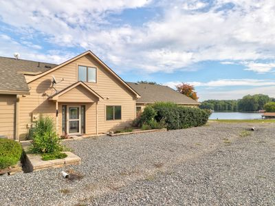 Photo for NEW LISTING! Lakefront, dog-friendly home w/beach, stunning views & picnic area
