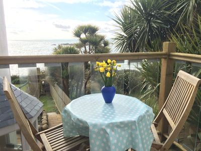 Photo for Romantic Luxury Apartment With Stunning Sea View In Mousehole, Wifi, Nespresso!