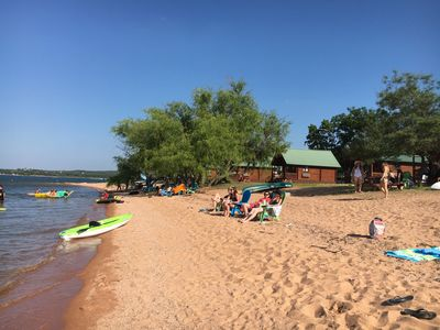 Photo for Lakefront Log Cabin 11 on the Beautiful Shores of Lake Buchanan