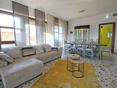 Photo for Wonderful flat for 8 People at 120m from the Sea in Tuscany, near Forte dei Marmi, parking, Wifi...