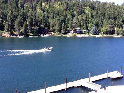 The Spokane River empties into Lake Coeur d'Alene about 1 mile upriver