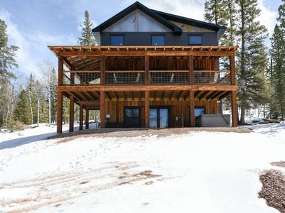 Photo for Stunning 4 BR Terry Peak Cabin Close to Deadwood w/ Hot Tub & Great View!