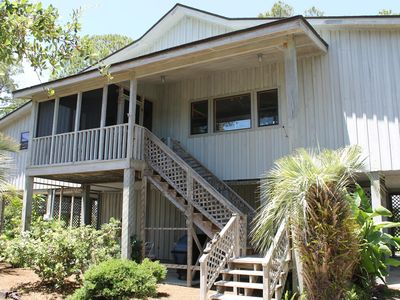 Photo for Bayfront on 1.5 Acres with Dock, Beach Access Across Street