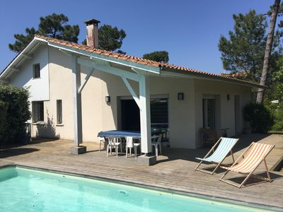 Photo for Villa with Pool, sleeps 9 located at Canon, between the pond and the ocean