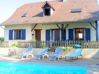 Photo for Stunning views of the Pyrenees, large secluded garden & private heated pool