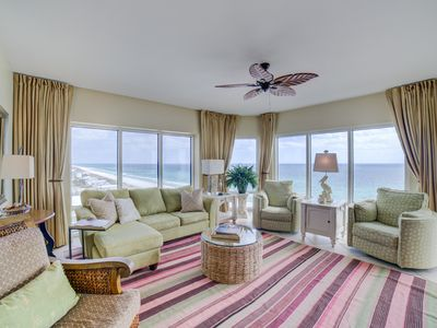 Photo for Breathtaking panoramic Gulf front views. Walking distance to shops and dining