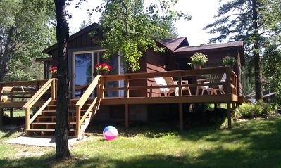 Photo for Lakefront Cutest Little Designer's Cabin~LkThompson Rhinelander~SwimBoatFish&Fun