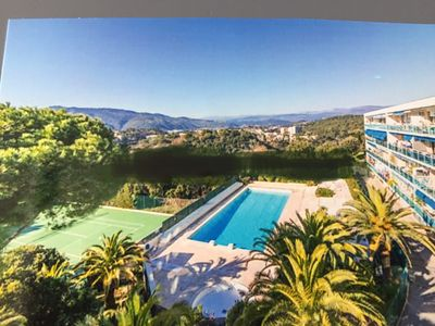 Photo for 3P 70M2 CANNES sea view Pool / Tennis