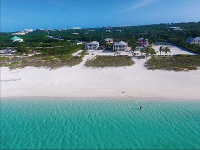 This beach (Grace Bay) is an 8 minute walk (2 min by bike) from our property.