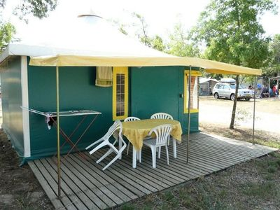 Photo for Camping Mouliat *** - Bungalow Toilé 3 Rooms 5 Persons