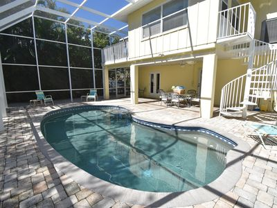 Photo for Tip of the Island! 3BR/2Bath, Heated Pool, Canal/Dock, Walk to Beaches & Dining