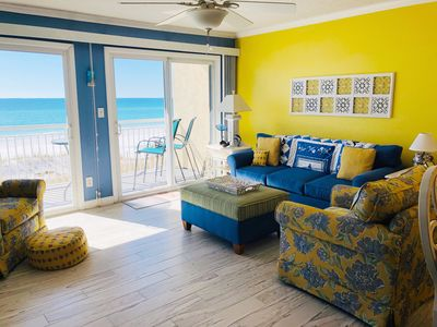 Photo for TOP FLOOR, GULF FRONT RETREAT! BEACH SERVICE INCLUDED!