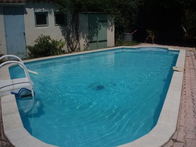 Photo for In Aix, small house nestled in the green, with swimming pool