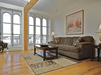Photo for Riverfront Luxurious 3 Bedroom Condo in Heart of Old Quebec