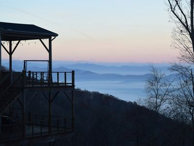 Photo for Best View in Asheville!  Enjoy 50's Diner setting while viewing mountain sunsets