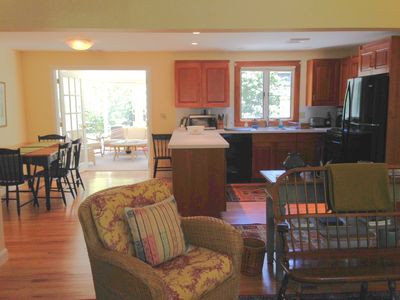 View from family room into the kitchen