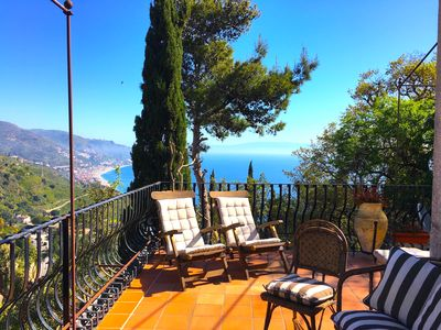 Photo for LUDOVICA'S HOUSE Sea View Terrace Taormina