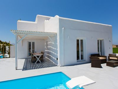 Photo for ELEGANT PARADISE VILLA ENRICO NAXOS PRIVATE POOL 3 BEDROOMS 3 BATHROOMS OFFERS INCREDIBLE VIEWS OF THE AEGEAN SEA AND PRIVATE RELAXATION