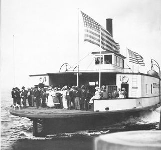 Maiden Voyage of the SS City of Seattle. The first ferryboat on Puget Sound