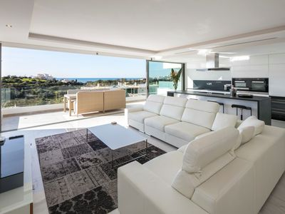 Photo for Luxury state of the art, spacious penthouse apartment, with fantastic sea views - Palms nº 5