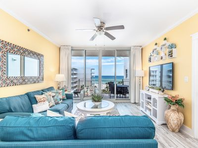 Photo for Picturesque beach-front condo at Waterscape! Washer/dryer in-unit! Waterfall + lazy river on-site!