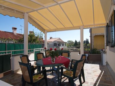 Photo for Large apartment with 2 bathrooms including large terrace, close to the sea and the center in Porec