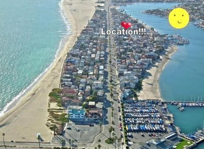 Location! Location! Location !! 3 houses from the bay..1/2 block from the ocean!