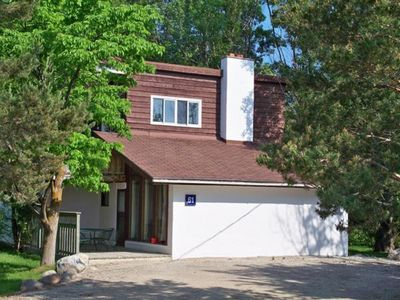 Photo for 4 bdrm Cottage  at Blue Mountain, Hot Tub & Sauna, great backyard, Private Beach access