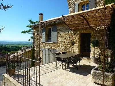 Photo for Provencal house in a quiet and in the heart of the village of Gigondas