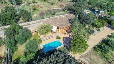 Photo for Typical Mallorcan holiday house with garden and pool
