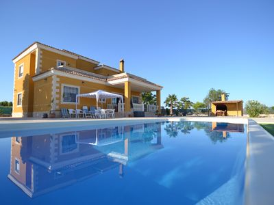 Photo for Majestic 6 Bedrooms Chalet with pool at 3km beach.