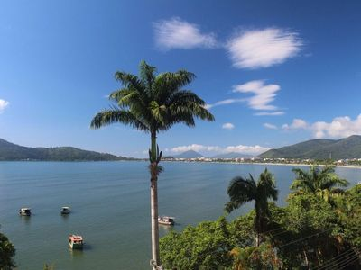 Photo for Beautiful sea view in 2 bedroom apartment in the center of Ubatuba, 50m from the beach