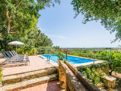Photo for ☼ Finca with panoramic views, Mediterranean and rustic